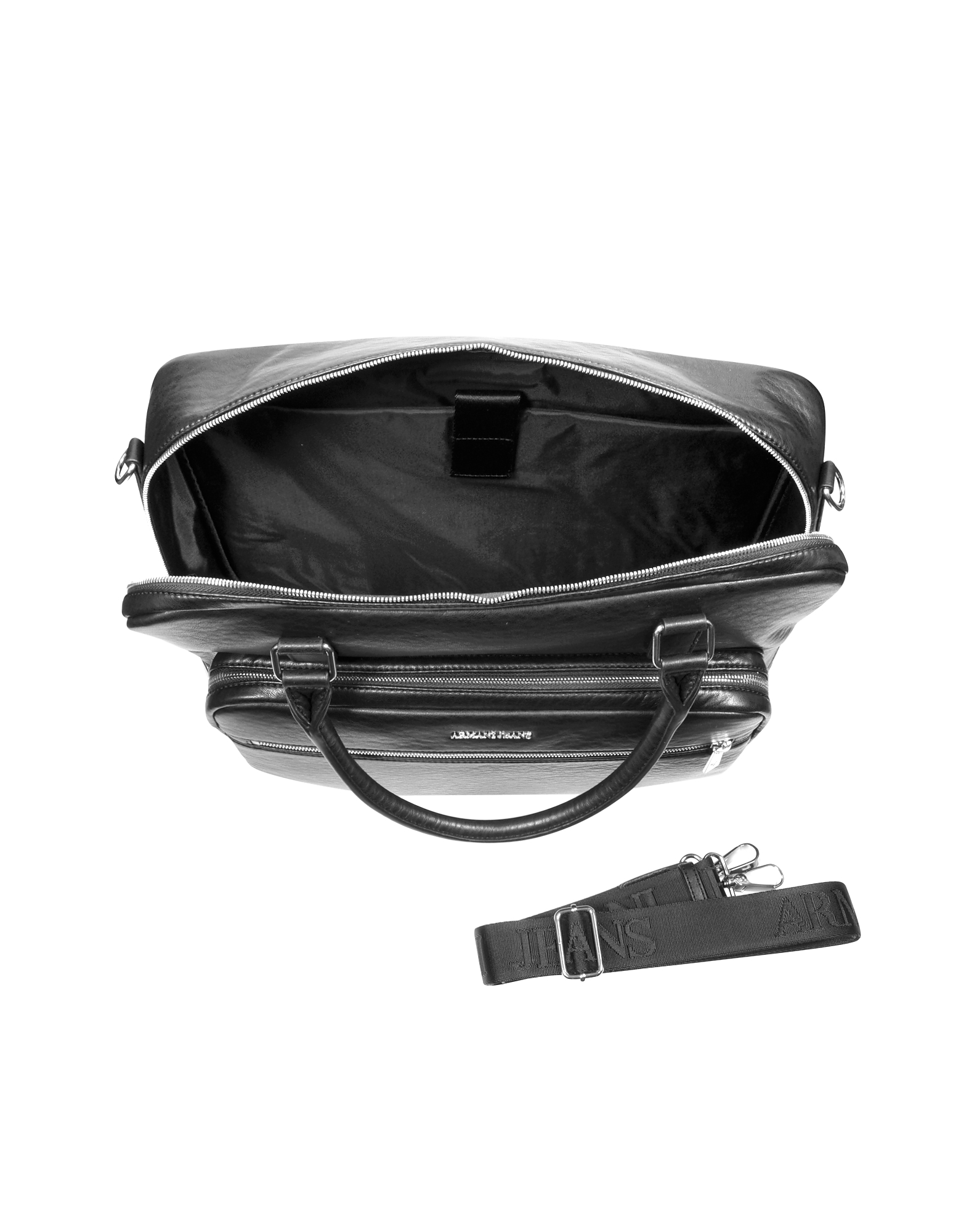 Black Eco Leather Men's Briefcase от Forzieri.com INT