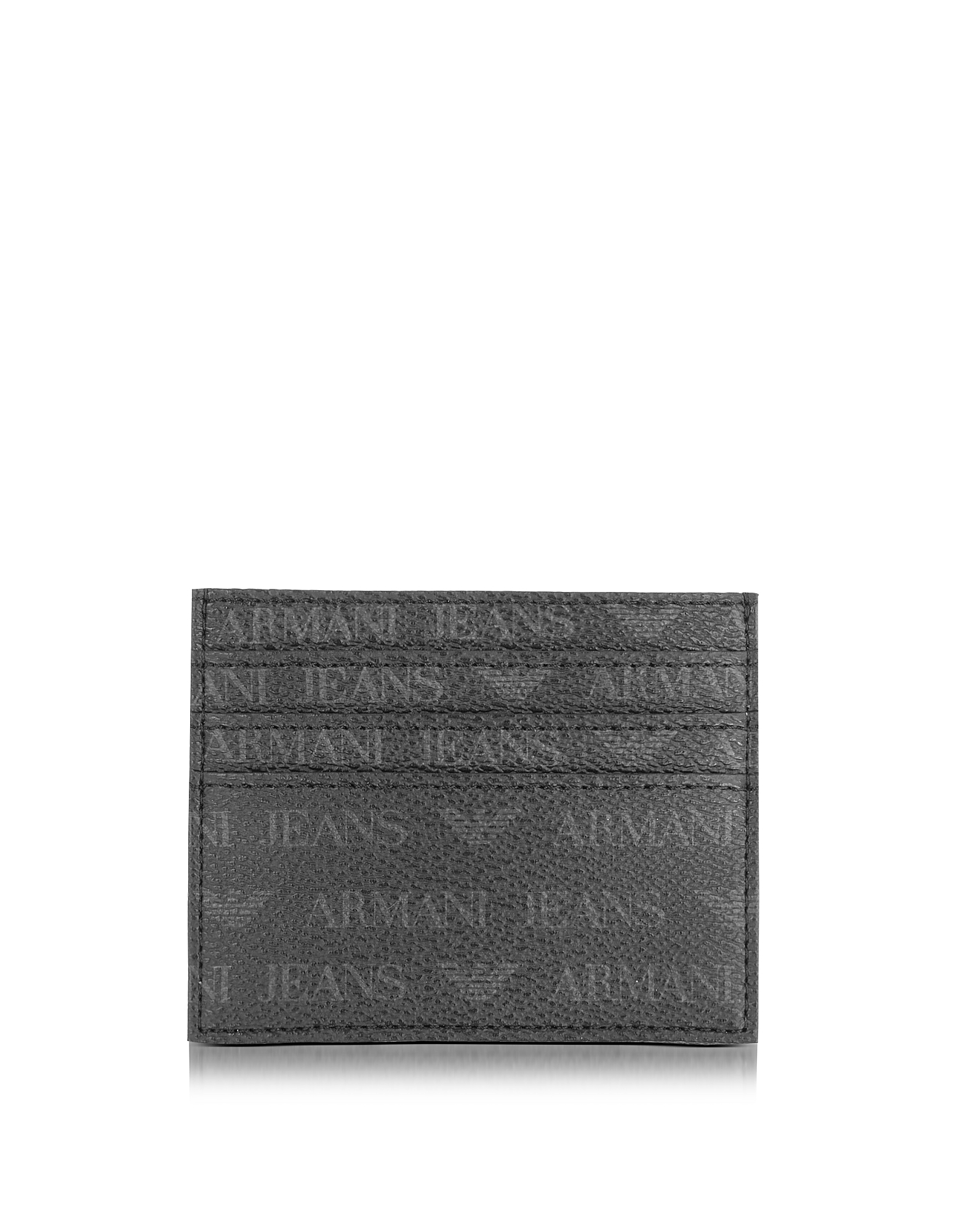 Black Signature Eco Leather Men's Card Holder от Forzieri.com INT