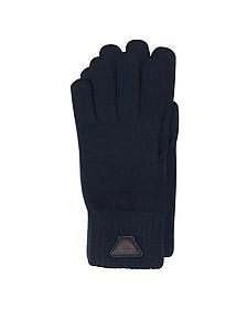 Herren-Handschuhe aus Wolle blau - Armani Jeans