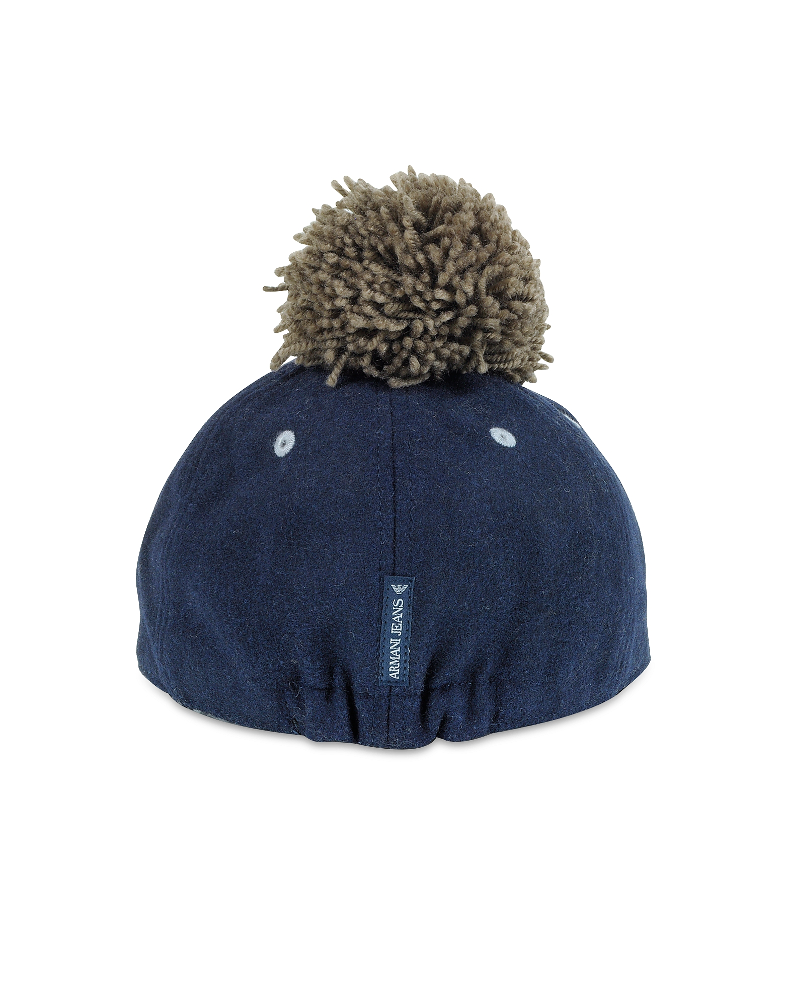 Blue and Gray Wool Blend Pom Pom Baseball Hat от Forzieri.com INT