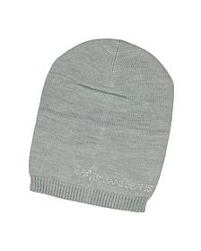 Bonnet en Laine Mélangée avec Signature en Cristaux - Armani Jeans