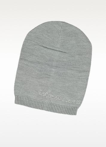 Crystal Signature Wool Blend Hat - Armani Jeans