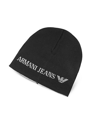 Armani Jeans - Solid Wool Blend Men's Beanie Hat