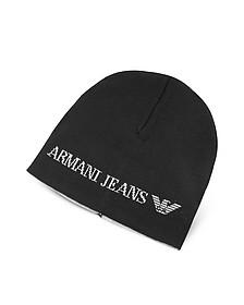 Beanie Mütze für Herren aus schlichter Wolle - Armani Jeans