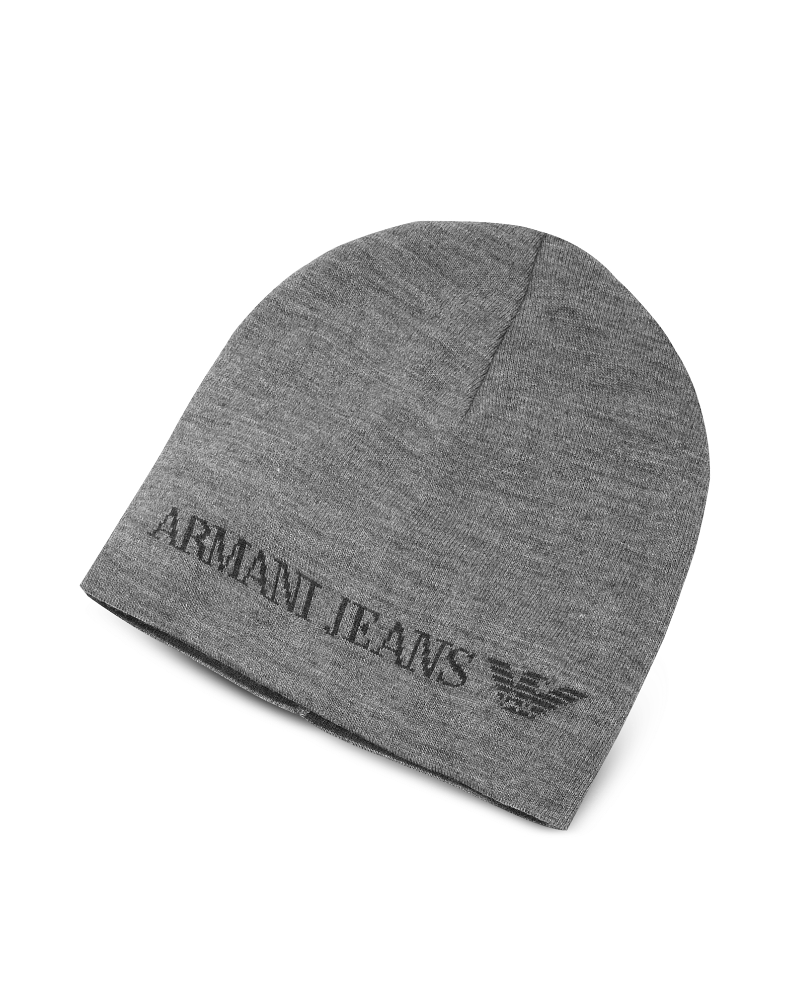 Armani Jeans Designer Men's Hats, Solid Wool Blend Men's Beanie Hat