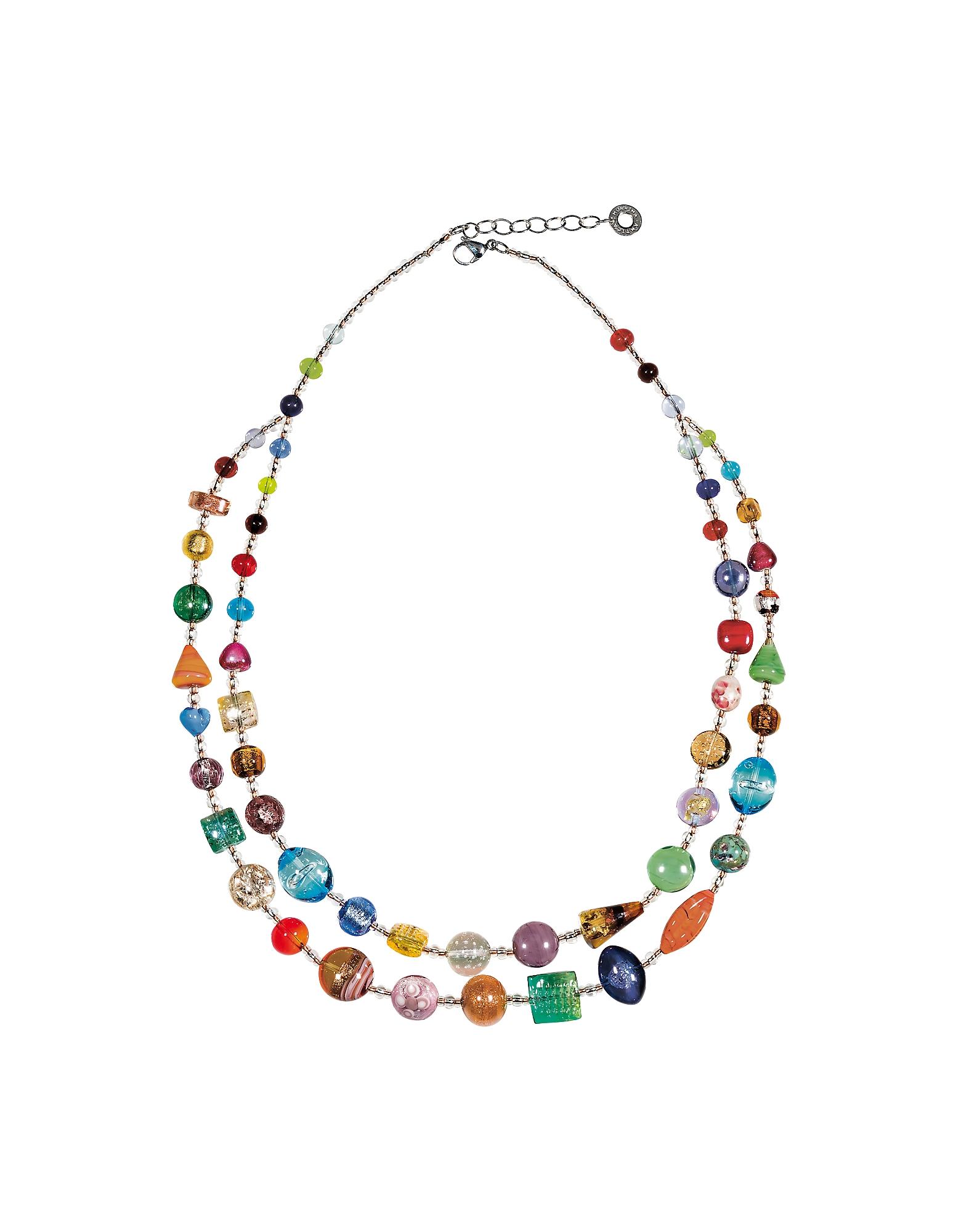Image of Antica Murrina Designer Necklaces, Long Bouquet Necklace
