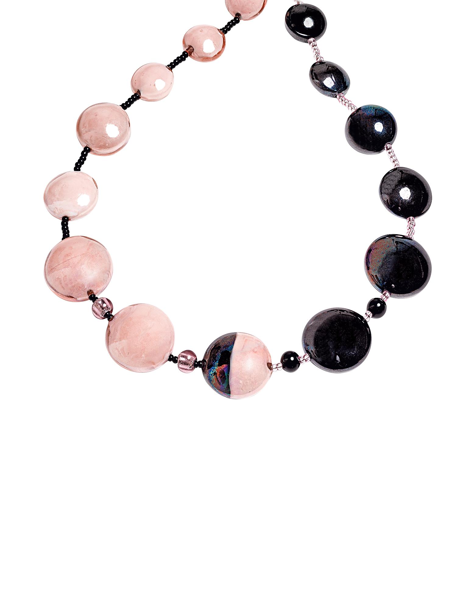 Audrey 2 - Длинное Ожерелье с Цветными Блоками из Стекла Мурано