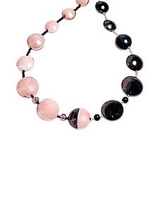 Audrey 2 Halskette aus Muranoglas im Color Block Design - Antica Murrina Veneziana