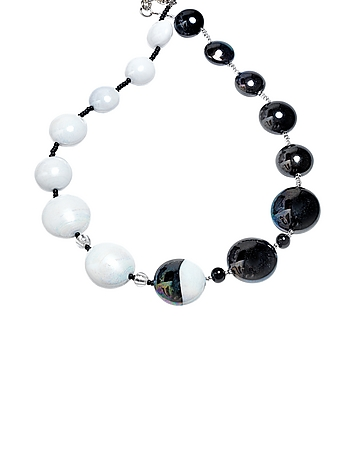 Antica Murrina - Audrey 2 Color Block Murano Glass Necklace