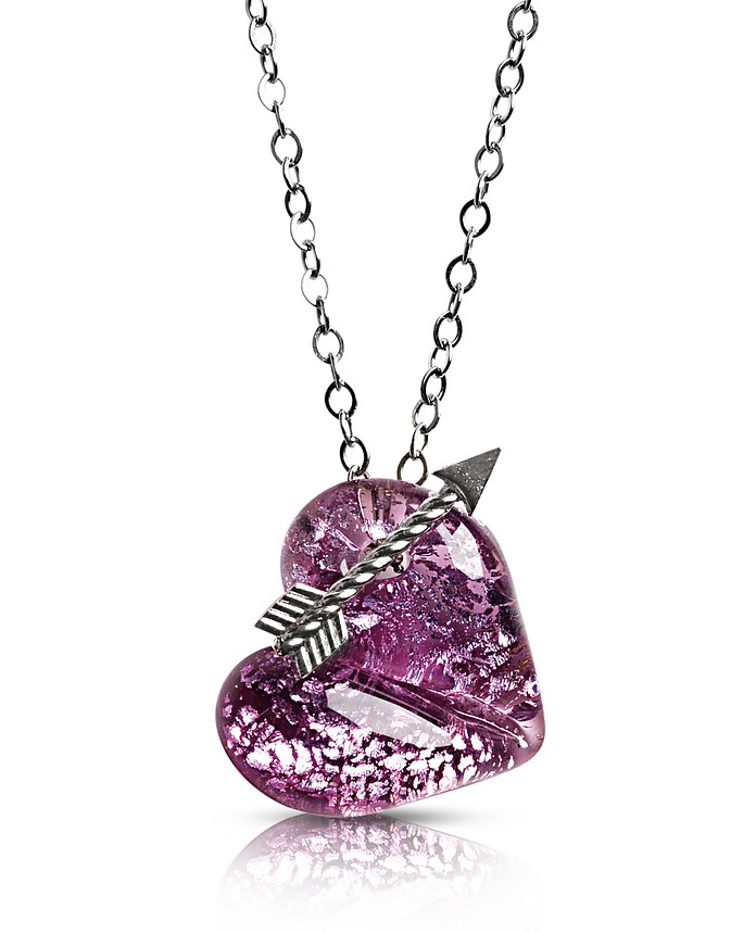 Elizabeth 3 Murano Glass Necklace w/Heart Pendant - Antica Murrina / アンティカ ムリーナ