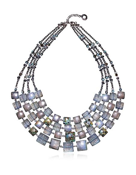 Antica Murrina Veneziana Atelier Byzantium - Halskette aus Silber und Muranoglas