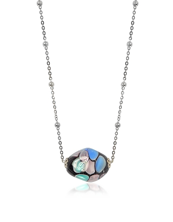 Antica Murrina - Smeralda Glass Beads Sterling Silver Necklace