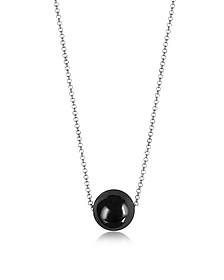 Perleadi Black Murano Glass Bead Chain Necklace - Antica Murrina