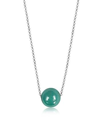 Antica Murrina - Perleadi Turquoise Murano Glass Bead Chain Necklace