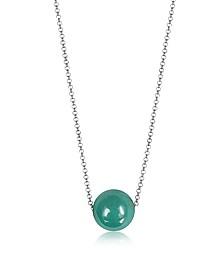 Perleadi Turquoise Murano Glass Bead Chain Necklace - Antica Murrina