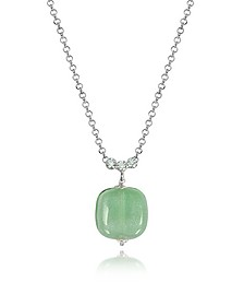 Florinda Green Murano Glass Sterling Silver Necklace - Antica Murrina