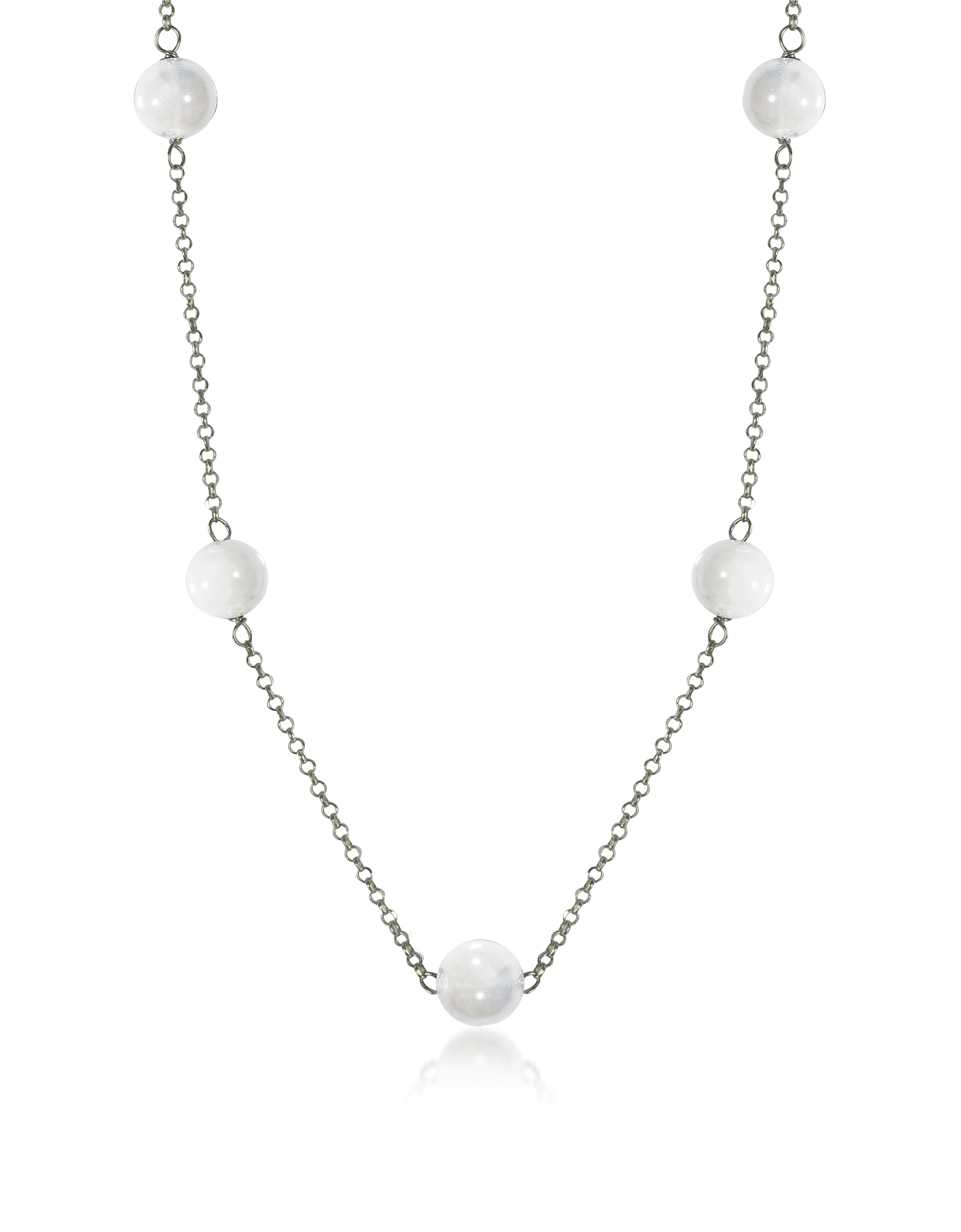 Antica Murrina Necklaces, Perleadi White Murano Glass Beads Necklace