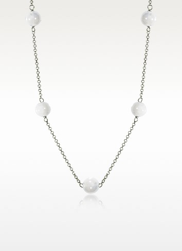 Perleadi White Murano Glass Beads Necklace - Antica Murrina