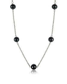 Perleadi Black Murano Glass Beads Necklace - Antica Murrina