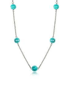 Perleadi Turquoise Murano Glass Beads Necklace - Antica Murrina