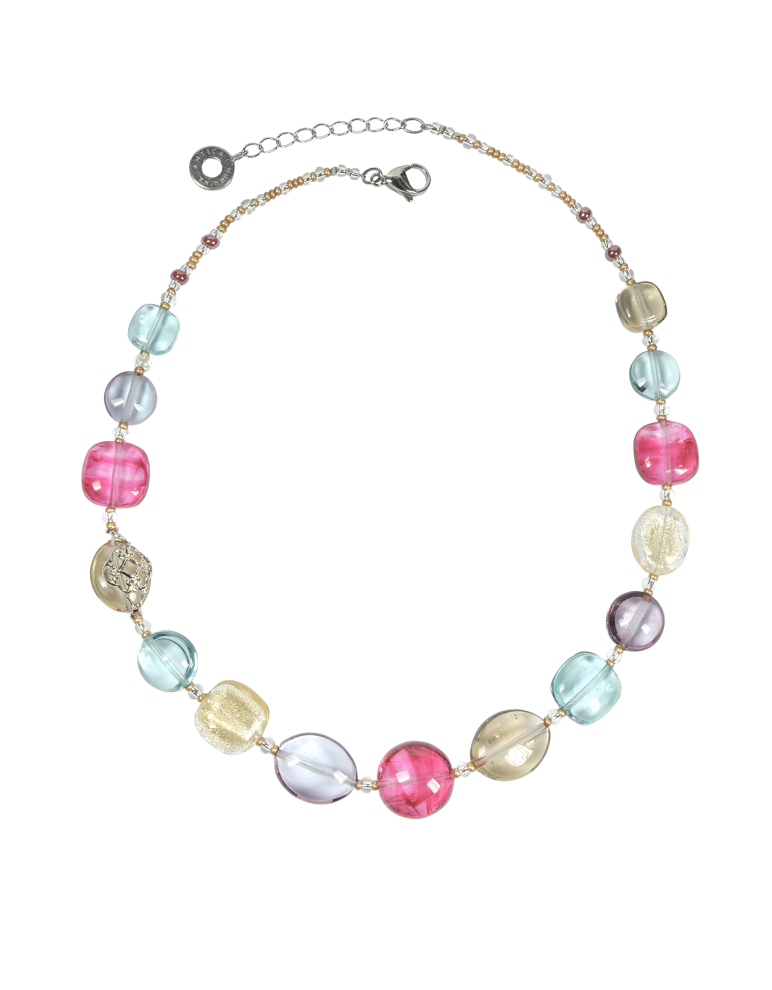 Antica Murrina Necklaces, Florinda Transparent Murano Glass Beads Necklace