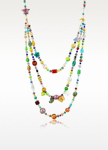 Brio - Halskette mit bunten Muranoglasperlen - Antica Murrina Veneziana