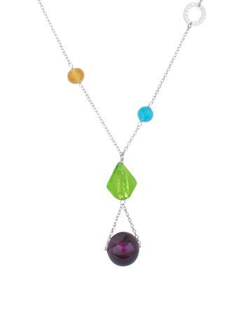 Antica Murrina Cometa - Murano Glass Bead Sterling Silver Necklace