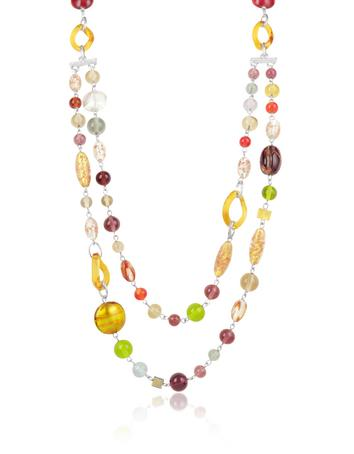 Antica Murrina Soul - Murano Glass Bead Double Strand Necklace