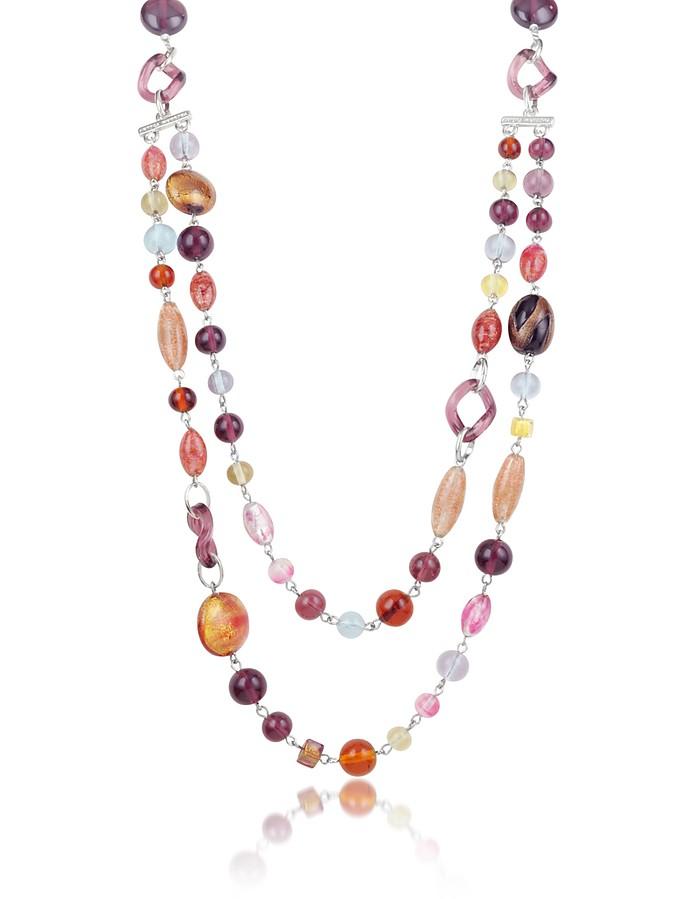 Soul - Murano Glass Bead Double Strand Necklace - Antica Murrina