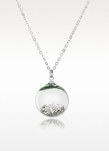 Shine - Murano Glass Pendant with Sterling Silver Chain - Antica Murrina