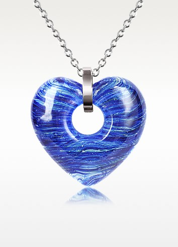 Heartbeat - Murano Glass Heart Necklace - Antica Murrina