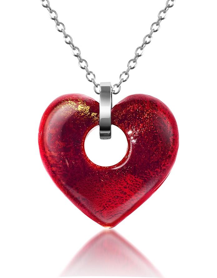 Heartbeat - Murano Glass Heart Necklace - Antica Murrina