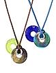 Eclipse - Murano Glass Pendant with Lace - Antica Murrina