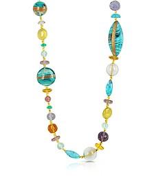 Niagara - Lange Halskette mit Muranoglasanhängern - Antica Murrina Veneziana