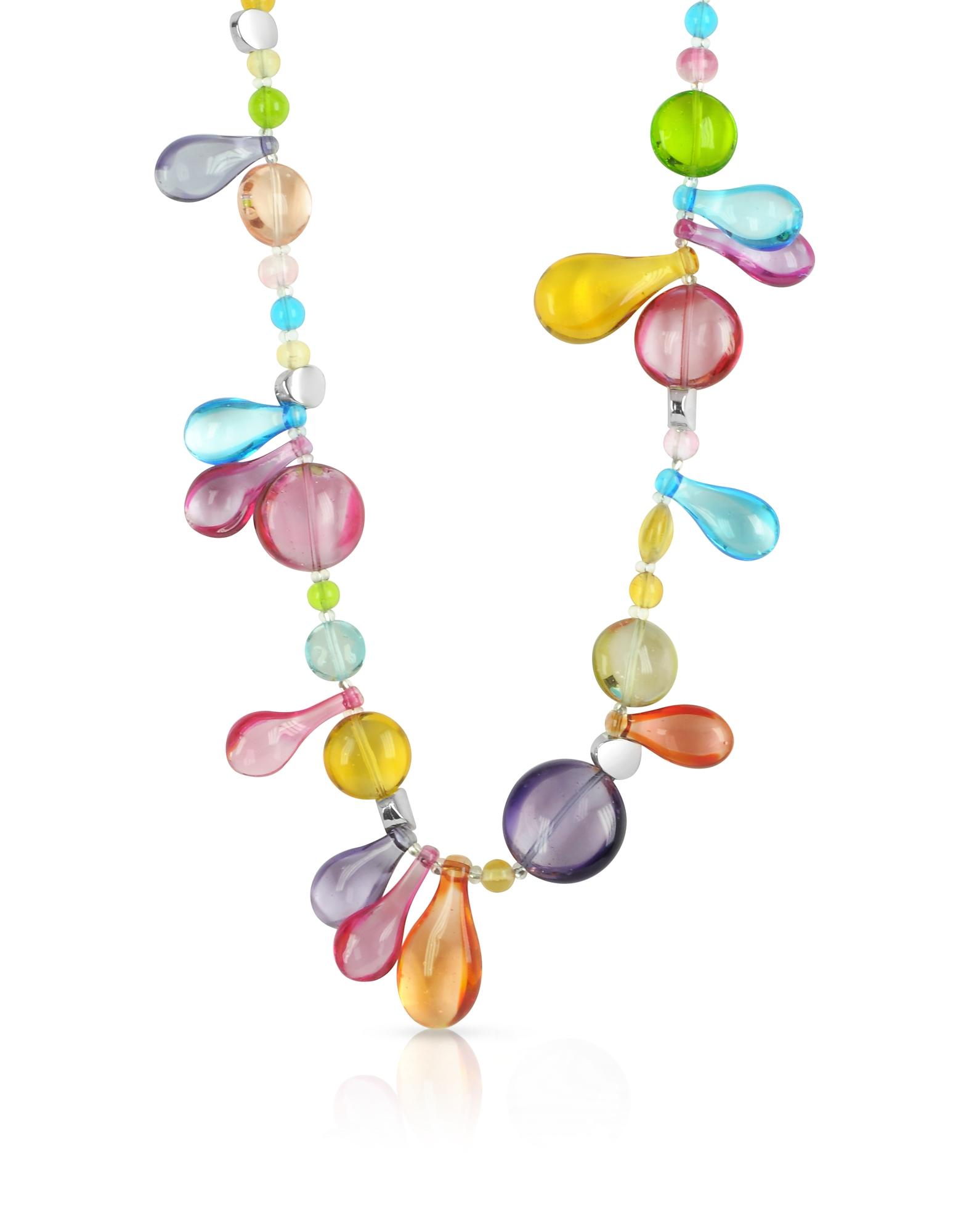 Lapilli - Длинное Ожерелье из Стекла Мурано
