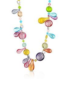 Lapilli - Lange Halskette mit Muranoglasanhängern - Antica Murrina Veneziana