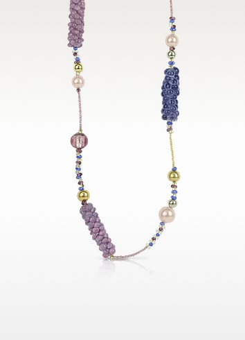 India Divinity Murano Glass Pearl Long Necklace - Antica Murrina