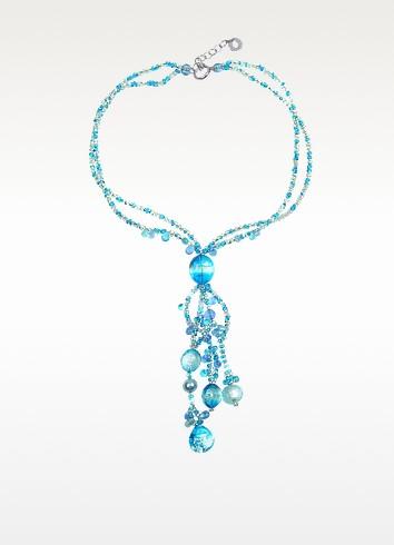 Bali Secret Light Blue Murano Glass Pendant Necklace - Antica Murrina