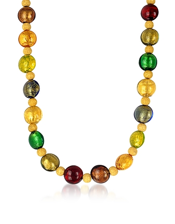 Manuela - Multi-Color Murano Glass and Sterling Silver Necklace