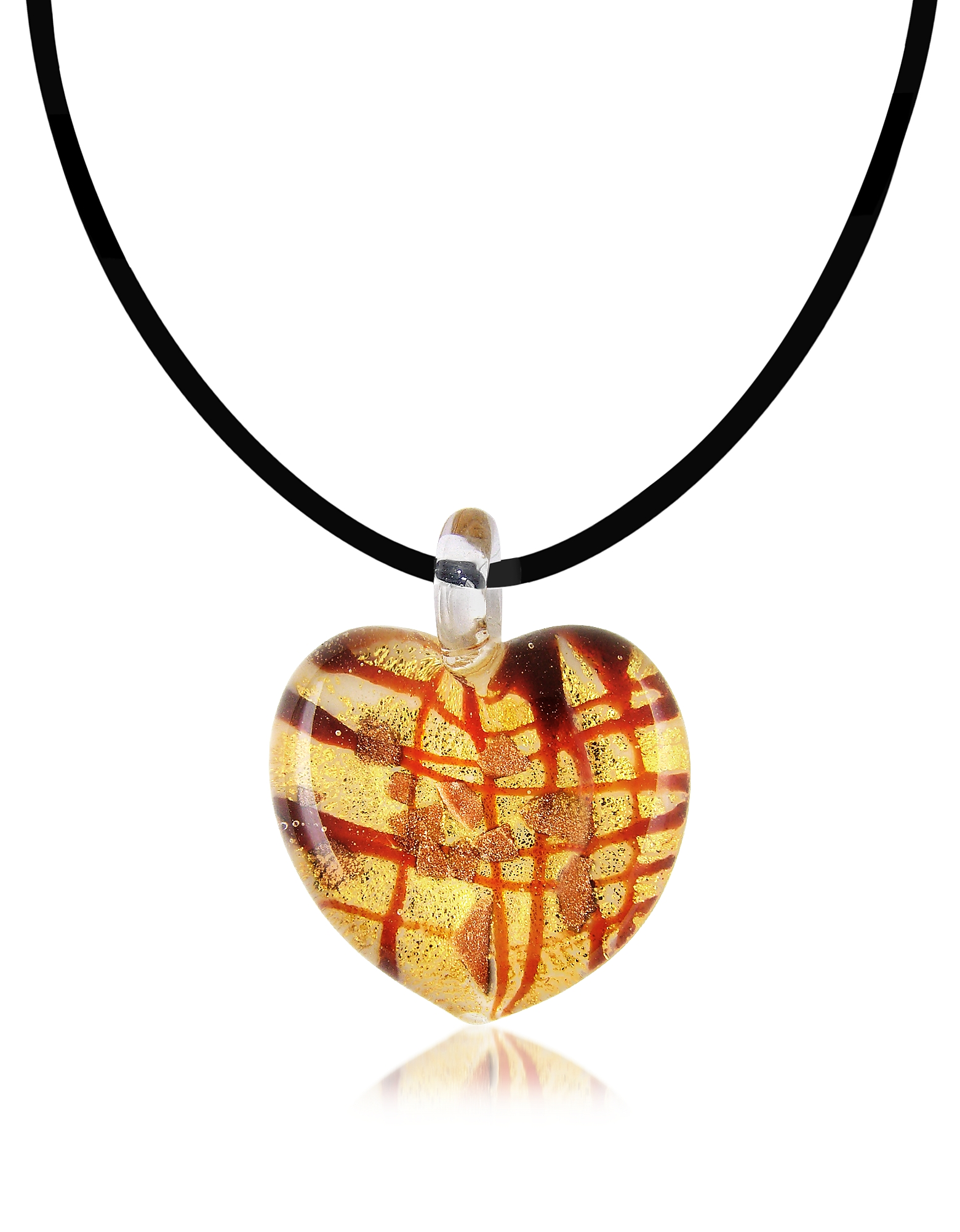 Antica Murrina Designer Necklaces, Passione - Murano Glass Heart Pendant