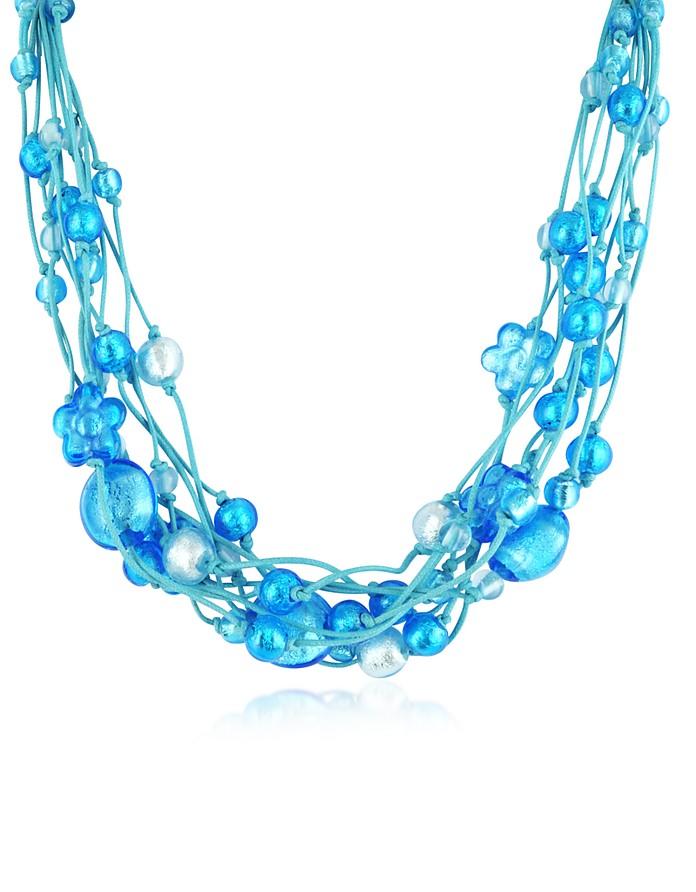Cancun - Murano Glass Beads & Flowers Multi-strand Necklace - Antica Murrina