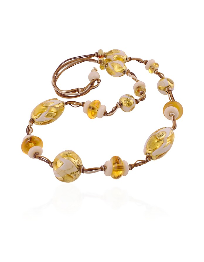 Sharon - Murano Glass Bead Toggle Necklace - Antica Murrina