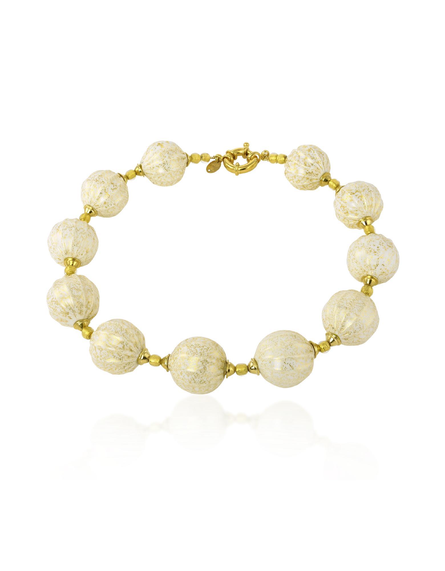 Antica Murrina  Dream - Murano Glass Ball Gold Plated Necklace