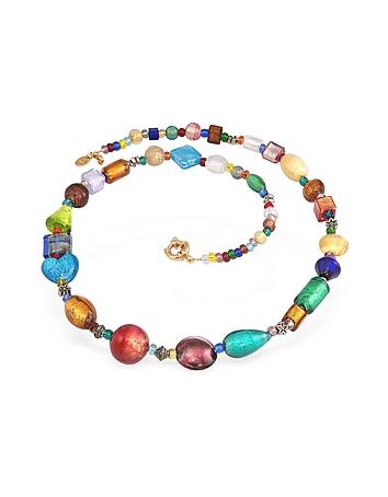 Fanny - Multicolor Murano Glass Bead Necklace