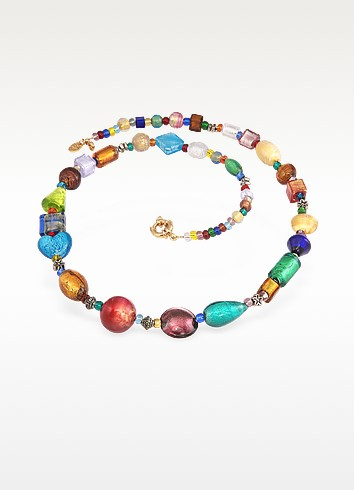 Fanny - Multicolor Murano Glass Bead Necklace - Antica Murrina