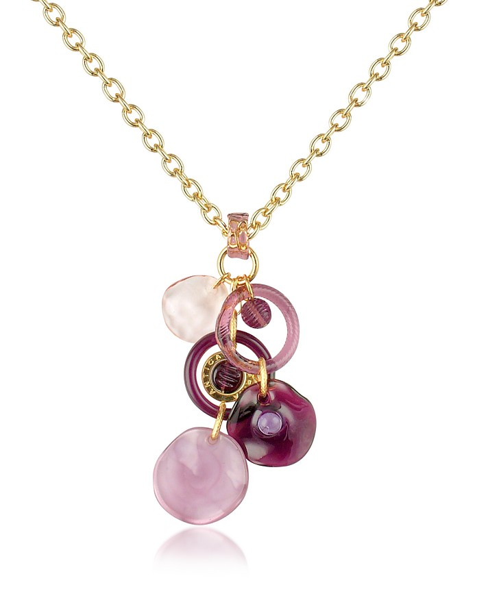 Shiva - Murano Glass Charm Drop Necklace - Antica Murrina