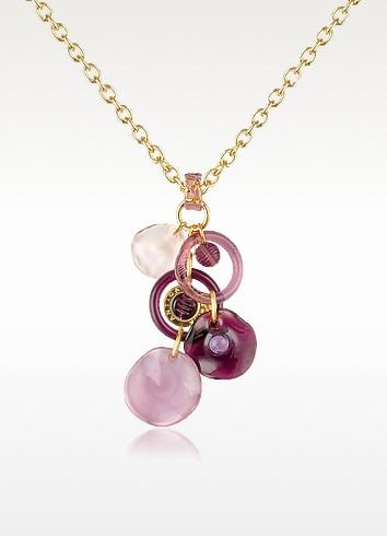 Shiva - Murano Glass Charm Drop Necklace - Antica Murrina