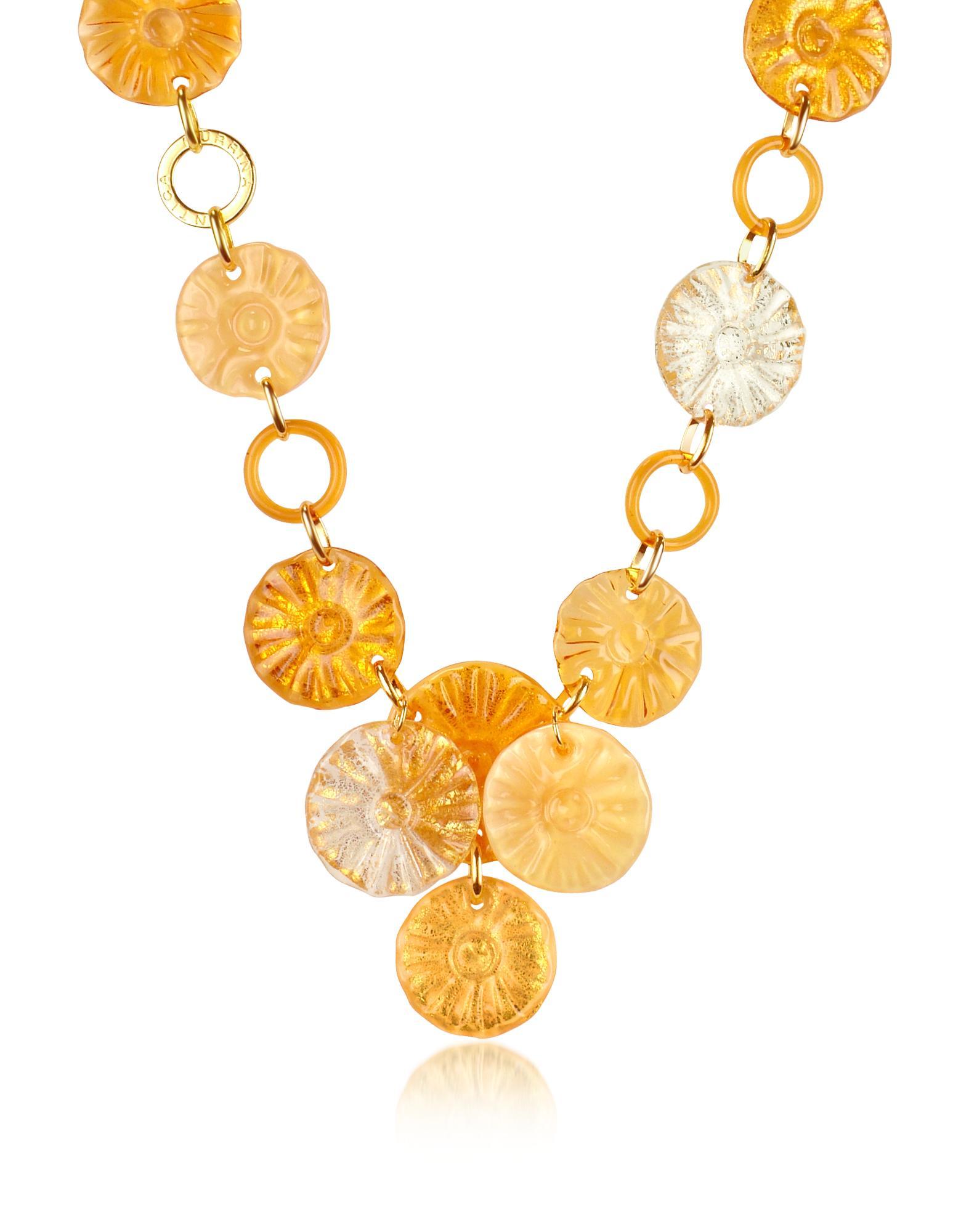 Antica Murrina Joy - Murano Glass Flower Drop Necklace