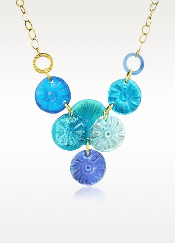 Velvet - Murano Glass Flower Drop Necklace - Antica Murrina