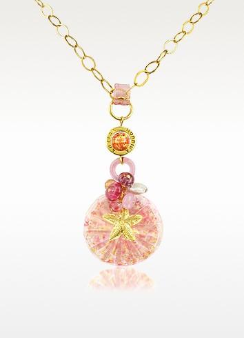 Pasha - Starfish and Murano Glass Flower Pendant Necklace - Antica Murrina